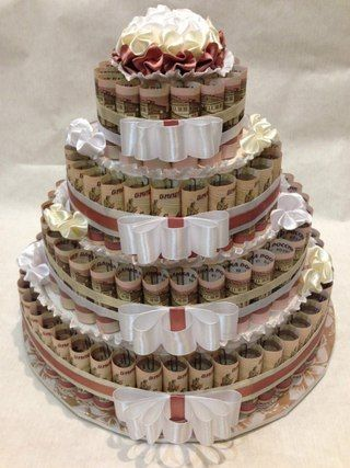 Тортик на свадьбу вместо банальных конвертов
