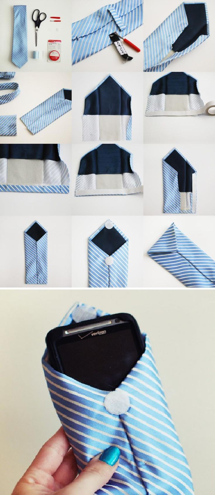 Amazing DIY Wallet Ideas DIY No-Sew Necktie Wallet