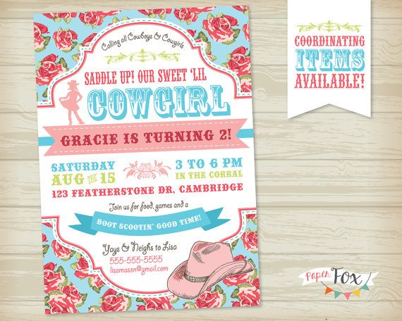 best 25+ cowgirl birthday invitations ideas on pinterest | horse, Party invitations
