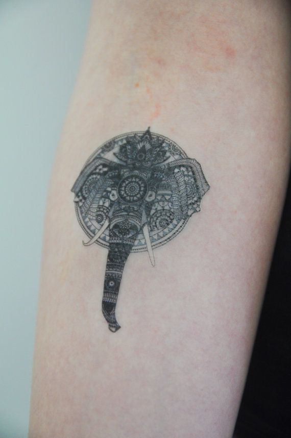 4440 best images about a elephant art on pinterest for Temporary elephant tattoo
