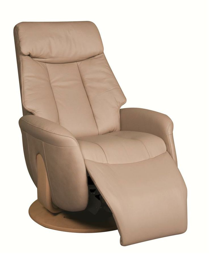 Small And Comfortable Leather Swivel Rocker Recliner