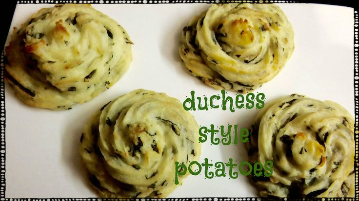 Duchess Style Potatoes! Check out our video. Expand pin!