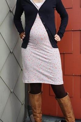Gentgemaakt: Zwangerschapskleedje  naaien met tricot zonder overlock!
