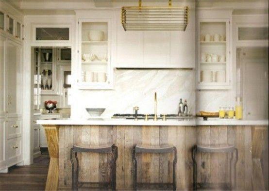 Vintage dřevěné kuchyňské ostrůvky