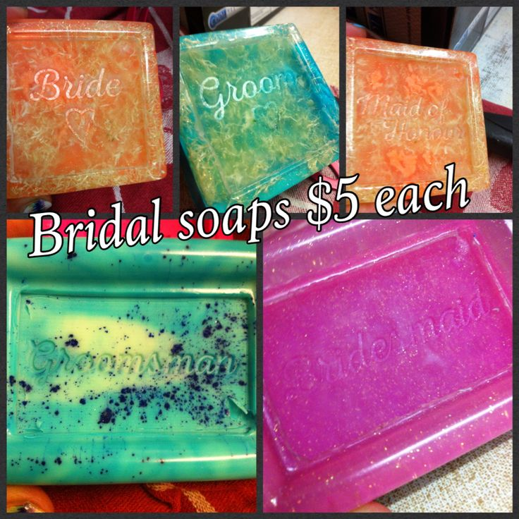 New bridal soaps. Available in any colour or scent. Message me today to order yours. Soaping around is my facebook page feel free to have a look around.