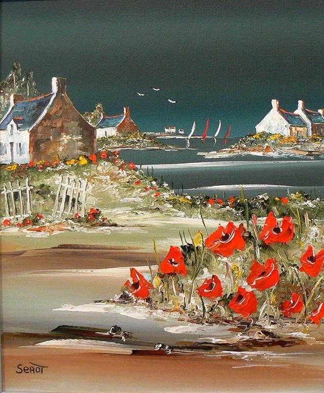 Maison Aux Coquelicots Ref 0096 46 X 38 Comment Peindre