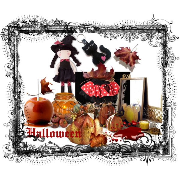 Little Witch by erika-hodi on Polyvore featuring interior, interiors, interior design, home, home decor, interior decorating, Halloween, witch and homedecor