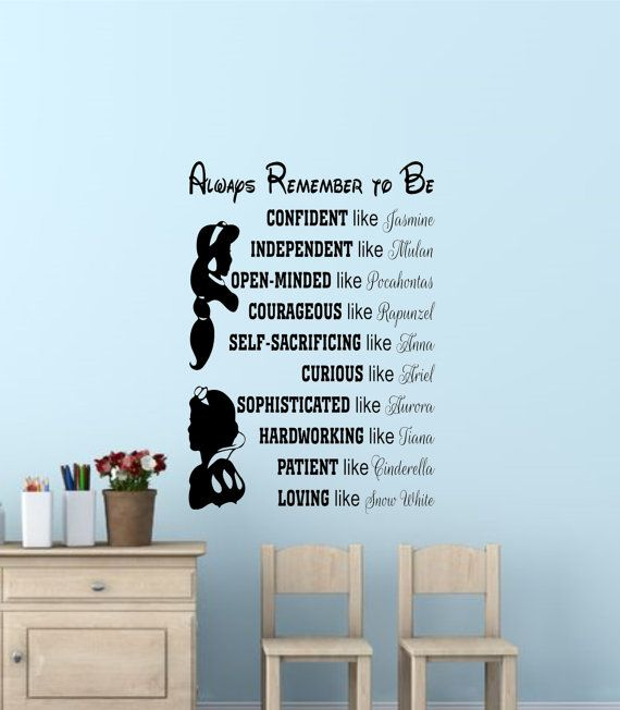 Disney Princess Wall Quotes Disney By VinylDesignsForYou On Etsy Part 78