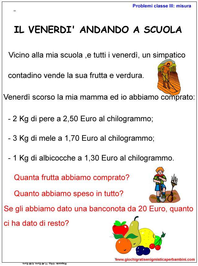 esercizi per la scuola primaria con gli euro | Matematica