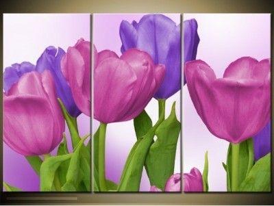 cuadros modernos de flores para salon