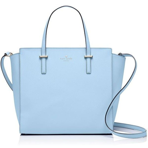 Kate Spade Cedar Street Hayden ($358) ❤ liked on Polyvore featuring bags, handbags, shoulder bags, saffiano leather handbags, kate spade handbag, kate spade, blue shoulder bag and blue purse