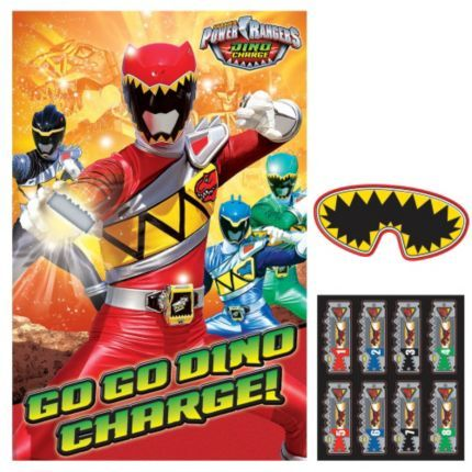 Power Rangers Dino Charge Party Game - Pretend Play and Individual Party Supplies
