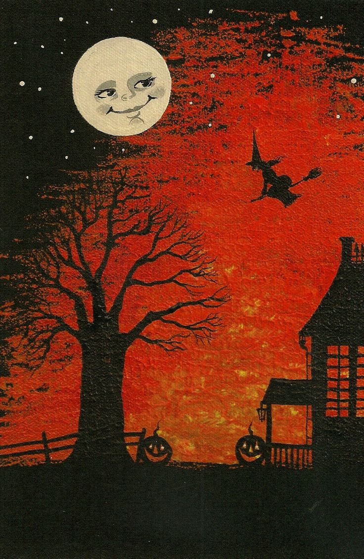 476 best All Hallows Eve (Halloween) Vintage Cards images on Pinterest
