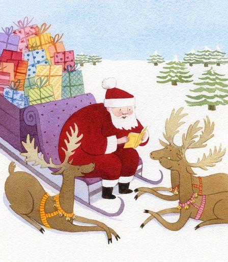 A great reader: Santa Claus    --   (ilustración de Marie Flusin)