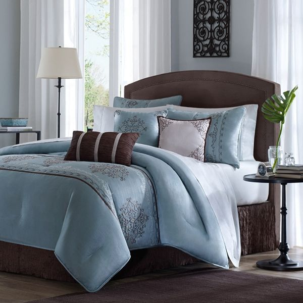 Image detail for -stylish light blue comforter set