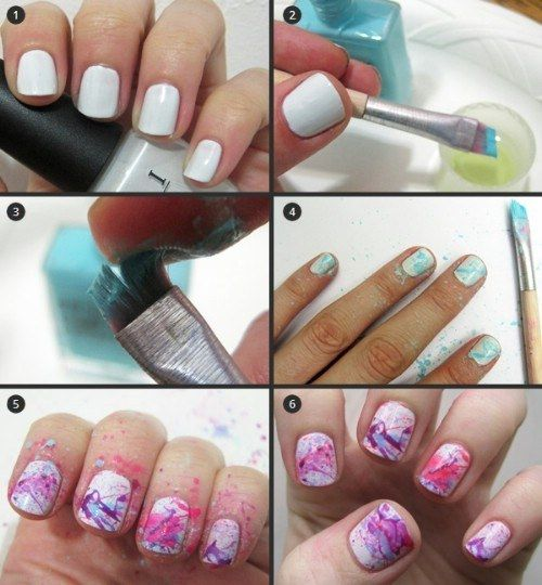 Or use an old makeup brush. | 19 Charts That Totally Explain How To Give Yourself A Manicure