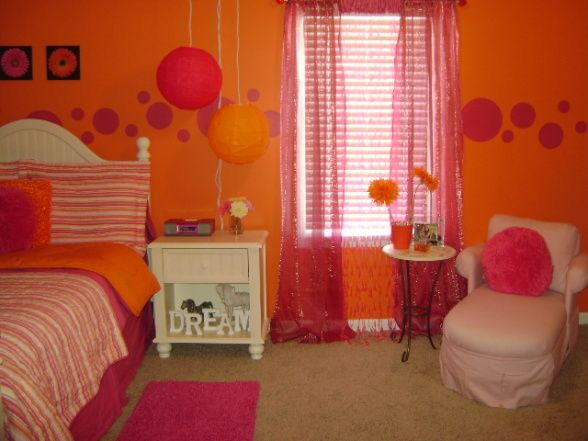 17 best images about girl bedroom ideas on pinterest for Pink and orange bathroom ideas