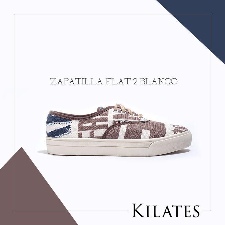 Zapatilla Flat 2 Blanco