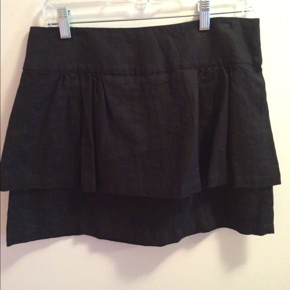 Black Peplum Skirt Great black peplum skirt for the office or this holiday season! Worn once, like new condition. Forever 21 Skirts