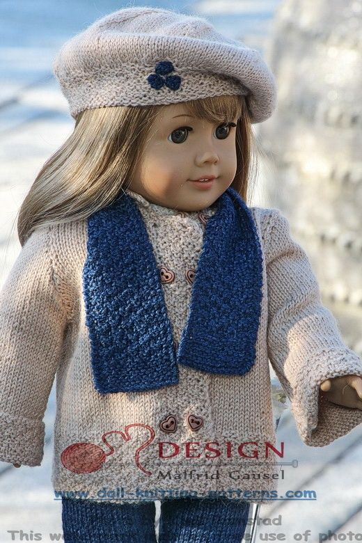 18 inch doll knitting patterns - a stylish designer suit for you doll
