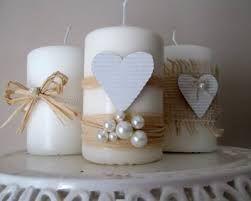 Risultati immagini per candele decorate matrimonio immagini