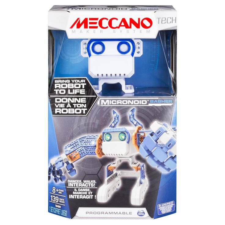 Meccano Erector - Micronoid - Blue Basher, Programmable Robot Building Kit