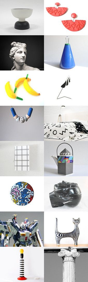 Play  #postmodern #memphis #1980s #colorful #etsy #moodboard