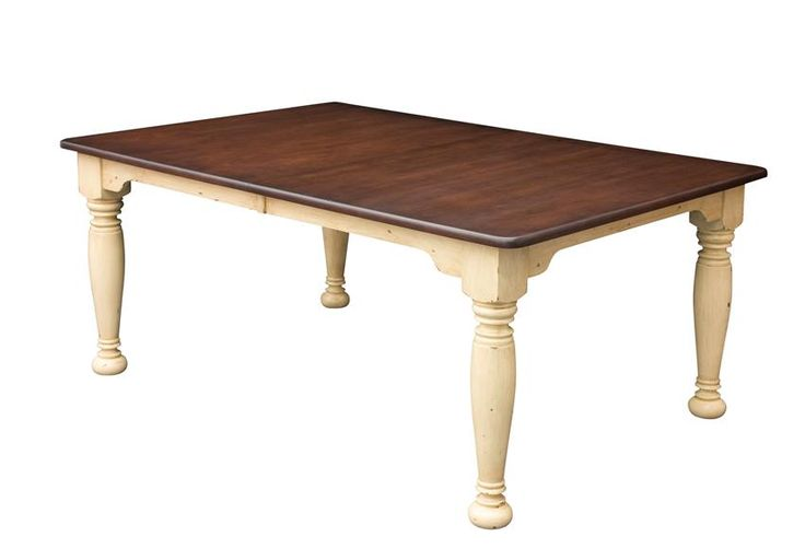 Belleville Amish Legged Table Serve up your favorite dish on the Belleville Amish Legged Table. Customize with your choice of 3 table leg types, Standard, Fluted or Reeded. #Amishmadefurniture