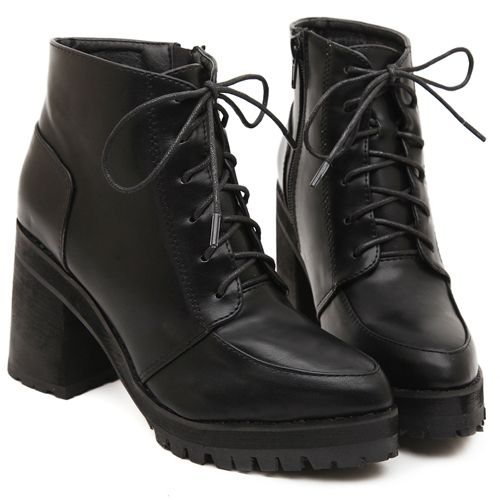 1000  ideas about High Heel Combat Boots on Pinterest | Black lace ...