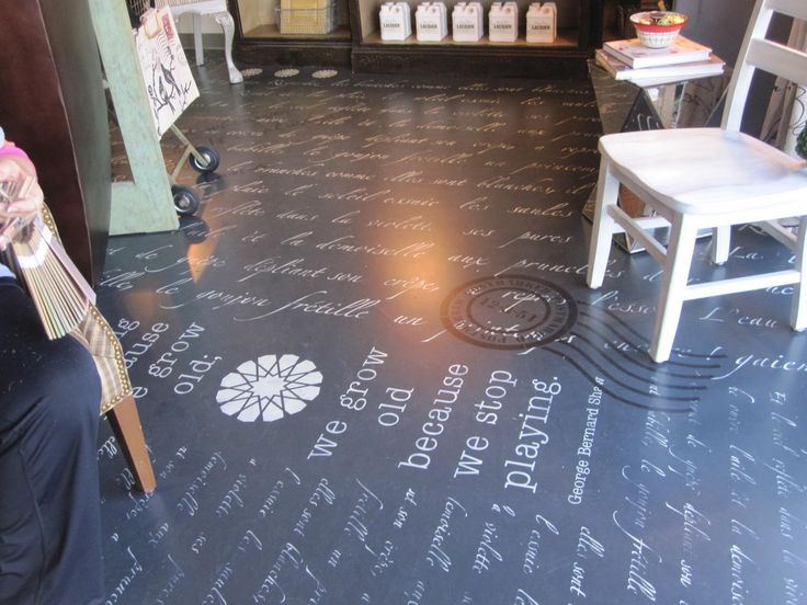 Painted Cement Floor | What A Concrete Floor...love The Quote Too!