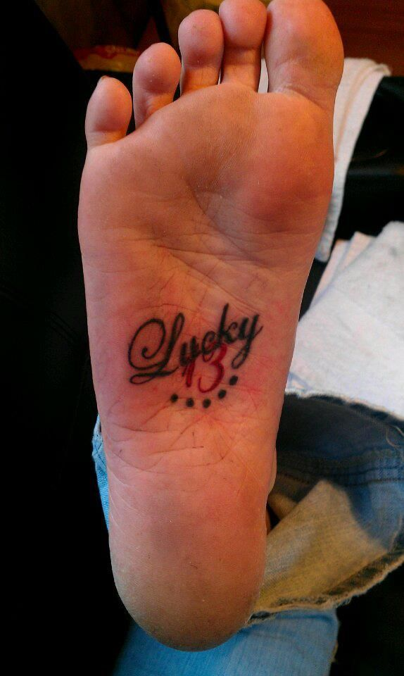 Pin Lucky Number 13 Tattoo Design At Bullseyetattooscom on ...