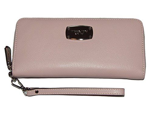 Women's Wristlet Handbags - Michael Kors  Jet Set Item Leather Travel Continental Zip Around WalletWristlet  Blossom -- Details can be found by clicking on the image.