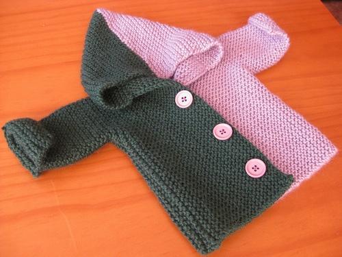 Sideways Garter Stitch Knit Jacket Knitting Pinterest