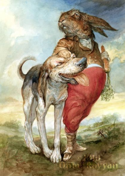Oh how I Love the sentiment of this message Dog of the Hare by Omar Rayyan