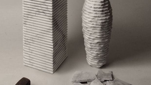 Vasi di design, Paolo Ulian e Moreno Ratti presentano Introverso 2 in marmo