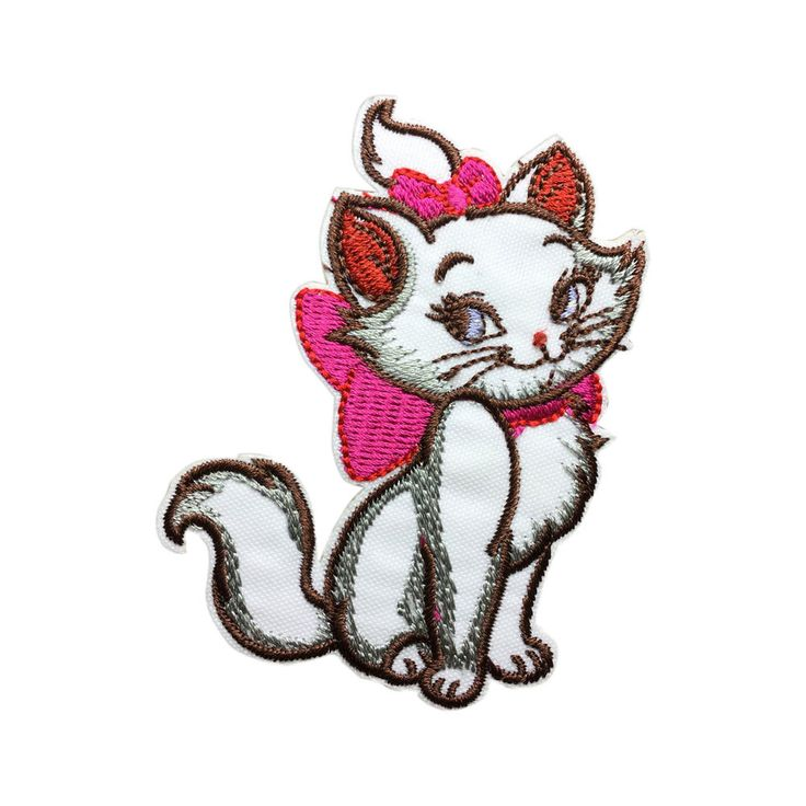 Marie Cat Patch Embroidered Cartoon Iron On Sew On Patches
