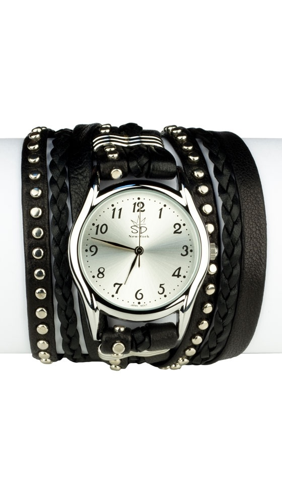 Studded Leather Wrap Watch at cricket clothing co. billings mt. And Cobblestone Clothing Co. Helena, mt.