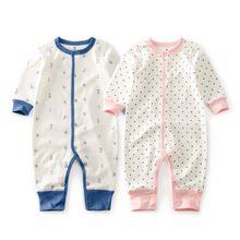 Cutelee pasgeboren zachte katoenen baby romper o hals Kostuums lange mouw meisje jongen rompertjes kleding ropa next baby Jumpsuit(China)
