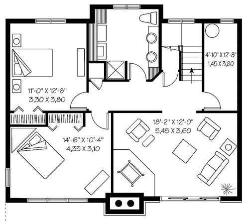 House Plans With Basements house plans with walkout basements 2 bedroom house plans with walkout basement walkout basement Basement Floor Plans