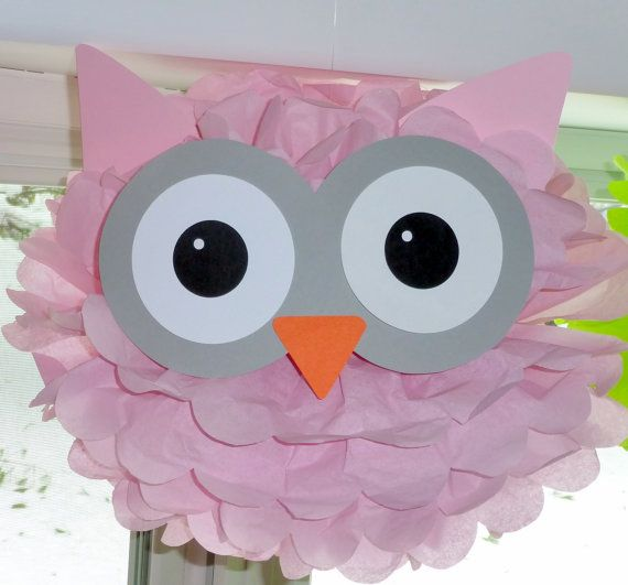 Owl pom pom kit baby shower first birthday by TheShowerPlanner, $9.99 - I think I could make this.
