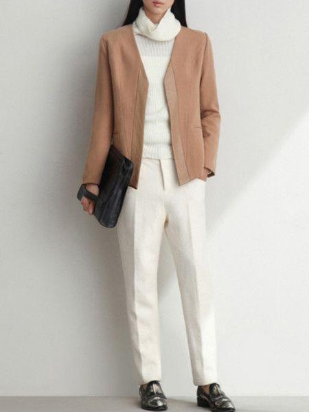 Paneled Wool Suit