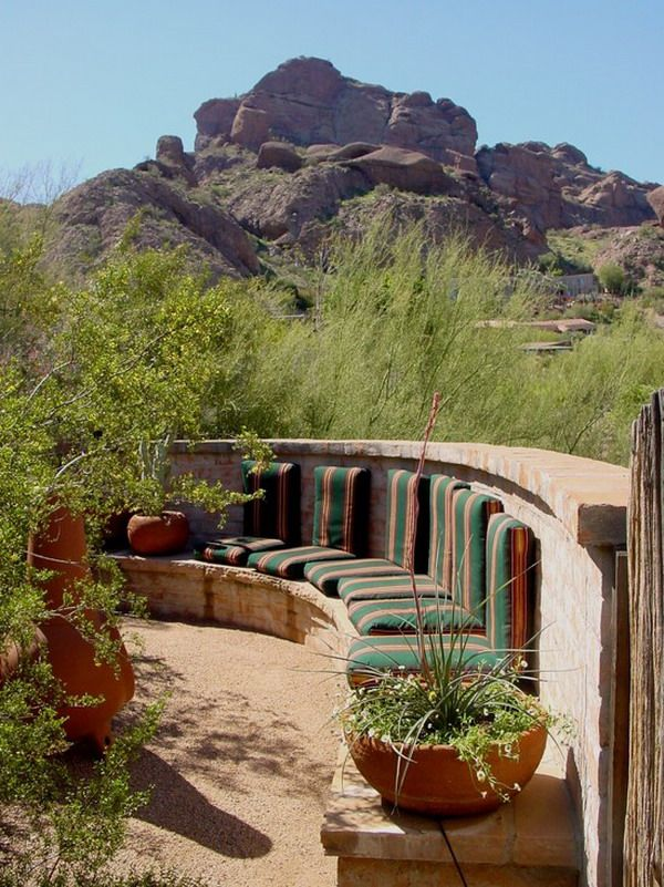 Southwestern Outdoor Garden Patio Design