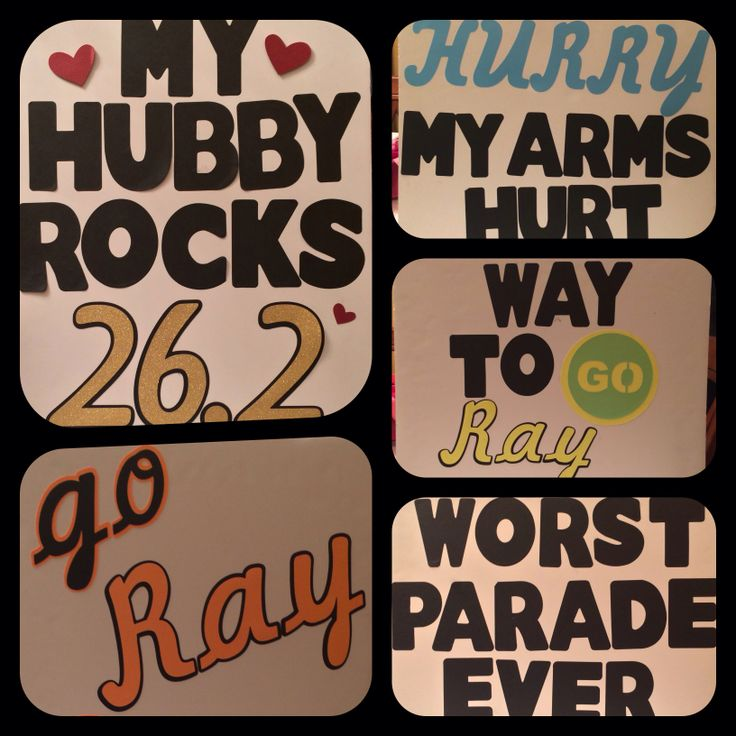 Funny marathon signs ;)