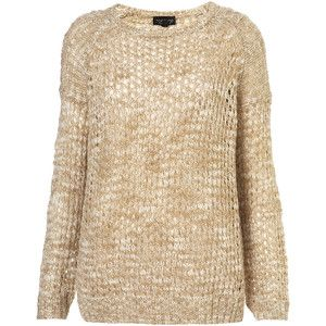 £ 38 - Chunky knit jumper from Topshop would look great when layered over a white shirt and skinny jeans. Converse and a shopper bag will give the look a comfy laid-back feel.