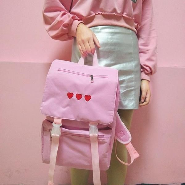 Big soft backpack three heart harajuku big soft backpack three heart