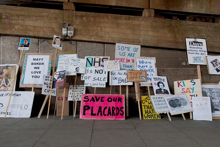 Save our placards