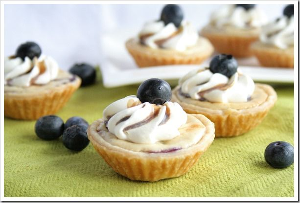 blueberry cheesecake pies ... can be made on the grill