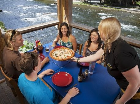 Rivers End Restaurant is perched on the banks of the Nantahala River, Bryson City, NC