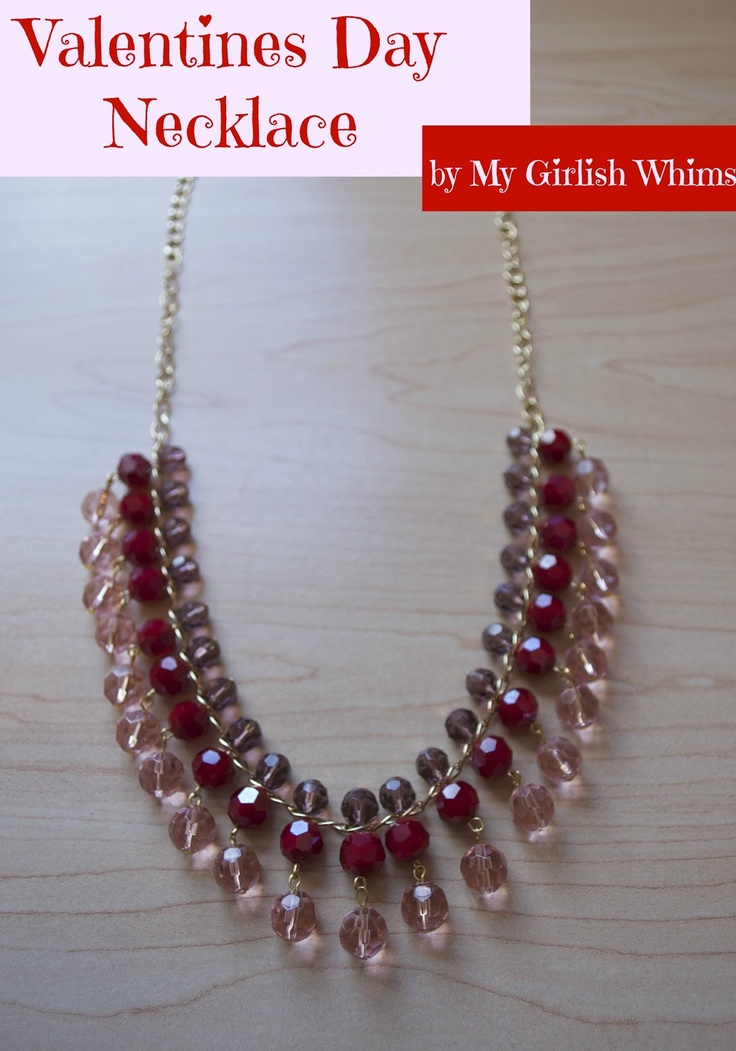 Valentines Day Necklace by My Girlish Whims
