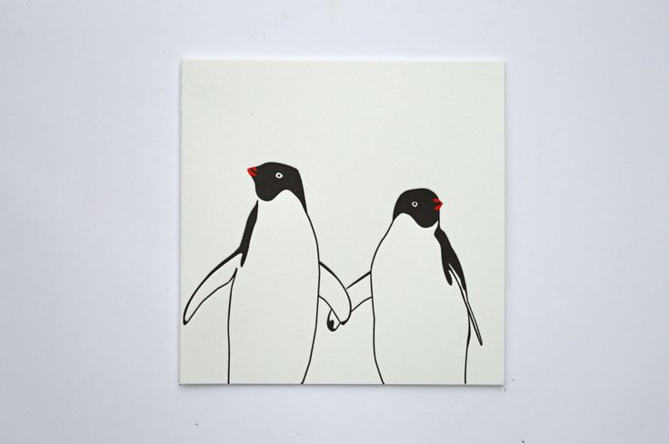 Penguin Christmas card - Love Card - Anniversary card - Penguins - xmas Cards - wedding card - penguin love - Letterpress Christmas cards by PenguinInks on Etsy https://www.etsy.com/listing/249590005/penguin-christmas-card-love-card